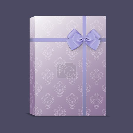 Vector gift box with ribbon and bow