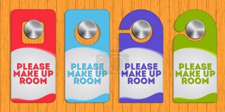 Hotel hanger sign - make up the room