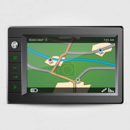 Illustration for Modern GPS, vector illustration - Royalty Free Image