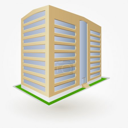 urban building, vector illustration