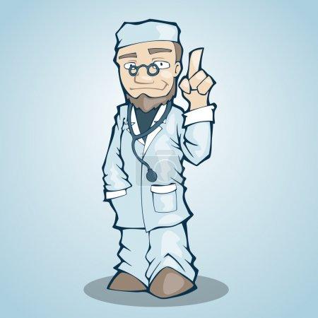 Illustration pour Illustration vectorielle du médecin. - image libre de droit