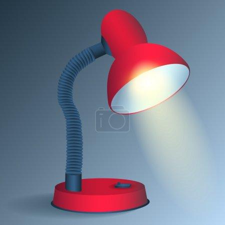 Illustration pour Lampe de bureau rouge - vecteur - image libre de droit