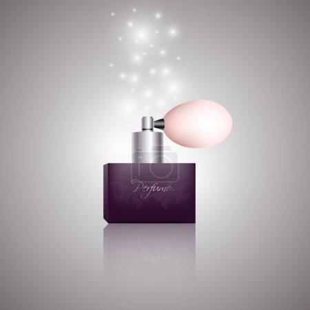 Vector bottle of women perfume