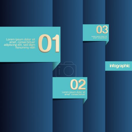 Vector blue background with numbers.