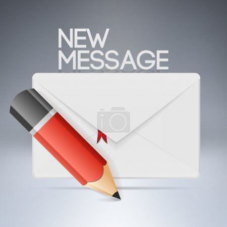 Photo for Vector illustration of envelope with pencil. - Royalty Free Image