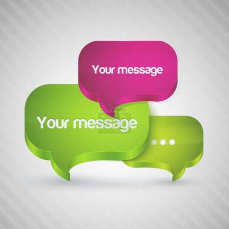Illustration for Speech bubbles for your message. - Royalty Free Image