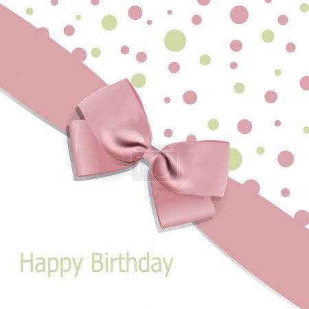Photo pour Fond d'anniversaire vectoriel avec arc - image libre de droit