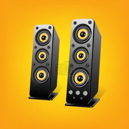 music Loudspeakers.Vector Illustration