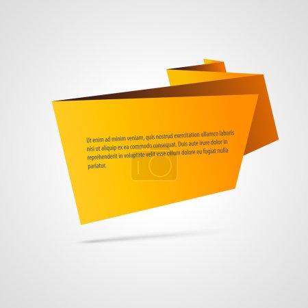 Illustration pour Bannière vectorielle origami papier - image libre de droit