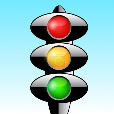 Illustration for Traffic light vector design - Royalty Free Image