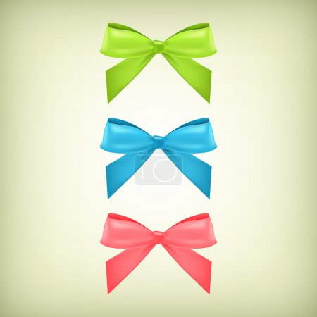 Photo for Vector set of colorful bows - Royalty Free Image