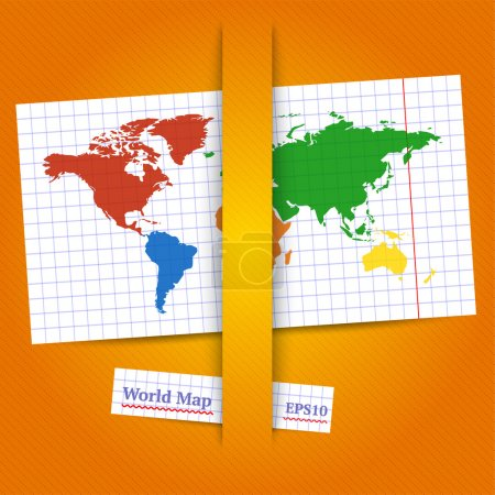 Colorful vector World map. Eps10