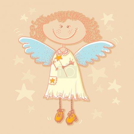 Illustration pour Fond vectoriel avec ange . - image libre de droit