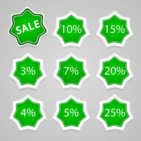 Set of vector sale stickers and labels.