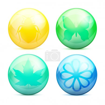 Photo for Vector set of eco buttons. - Royalty Free Image
