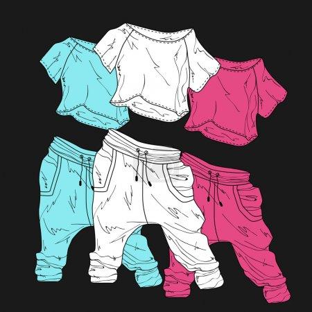 Illustration pour Des vêtements pour femmes. Illustration vectorielle . - image libre de droit