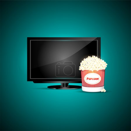 Vector television with popcorn