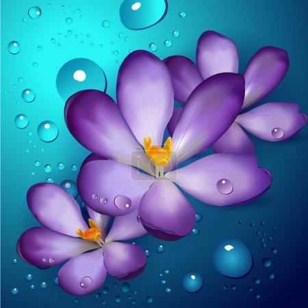 Illustration pour Illustration de lotus violets - image libre de droit