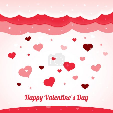 Vector valentine's background with hearts