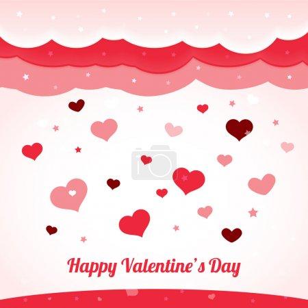 Vektor Valentin Hintergrund mit Herzen