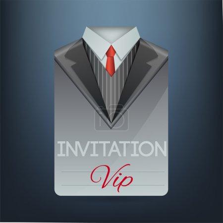 Illustration pour Invitation VIP sous la forme d'un costume. Illustration vectorielle - image libre de droit