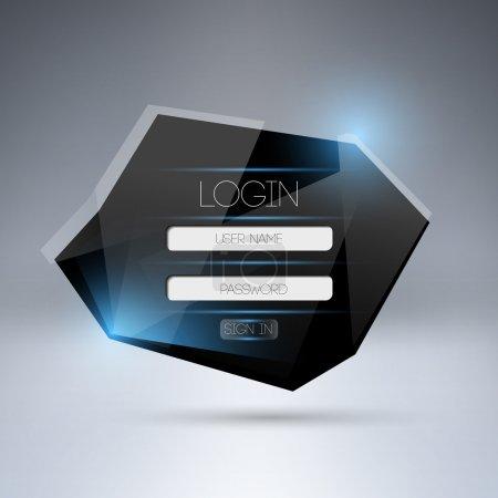 Vector modern login form ui element.