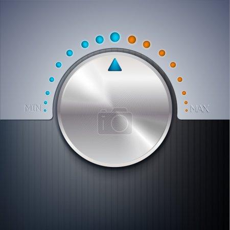 Ilustración vectorial de un botón de volumen .