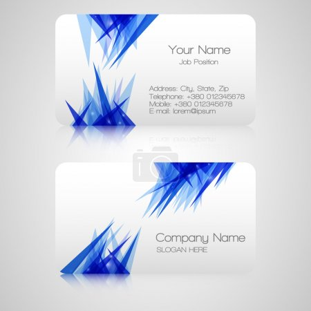 Vector business card , elements for design.