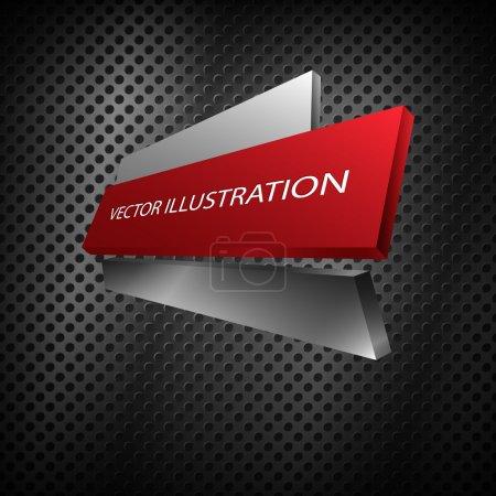 Illustration for Metallic banner. vector design - Royalty Free Image