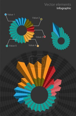 Illustration for Set of infographic vector elements - Royalty Free Image