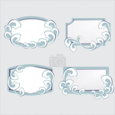 Set of vector frames with waves