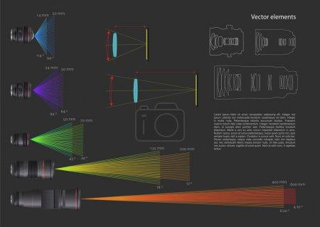 Illustration pour Ensemble d'éléments d'infographie vectoriels avec certains objectifs - image libre de droit