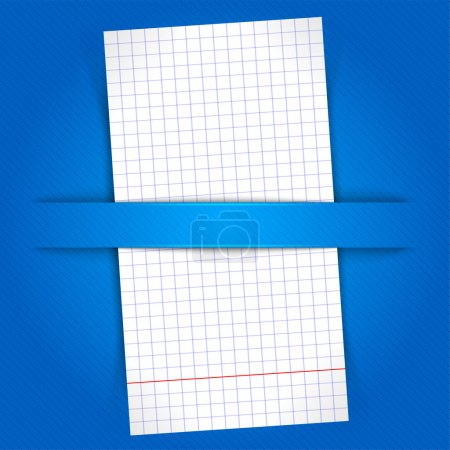 Illustration for Paper sheet on blue background - Royalty Free Image