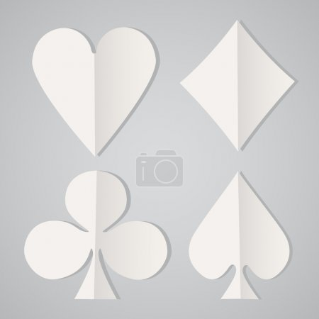 card symbols, vector design