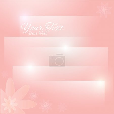 Abstract pastel floral background. Vector illustration