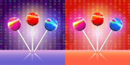 Illustration pour Lollypops de conception vectorielle - image libre de droit