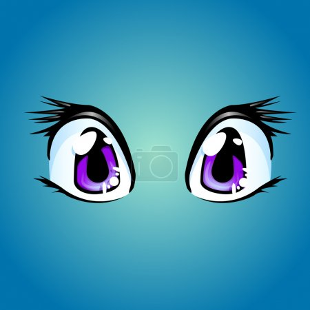 Vector illustration of a pair of cartoon eyes