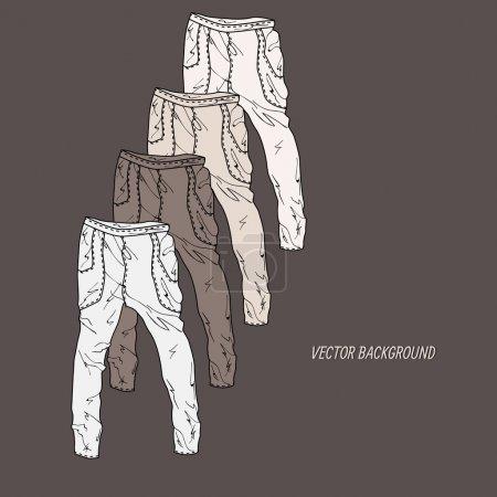 Illustration pour Fond vectoriel avec pantalon . - image libre de droit