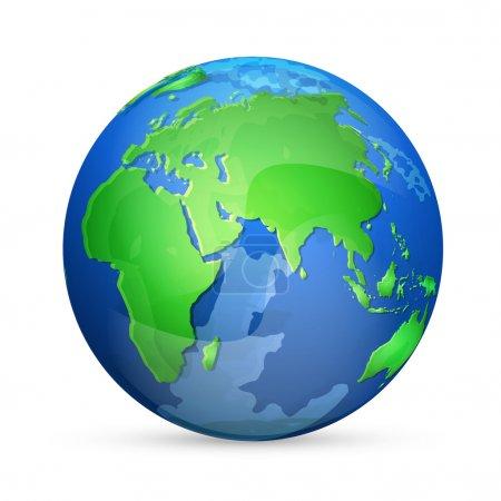 Earth icon, vector design