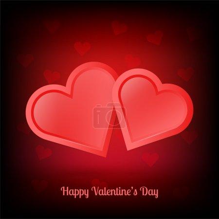Illustration pour Illustration de paire de coeur de Saint-Valentin - image libre de droit