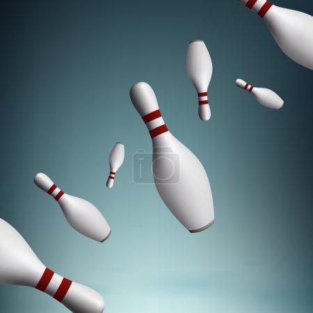 bowling pins, vector design