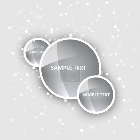 Illustration for Vector background with shiny circles. - Royalty Free Image