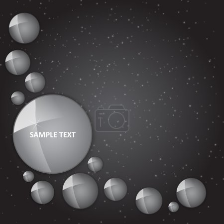 Vector background with shiny circles.