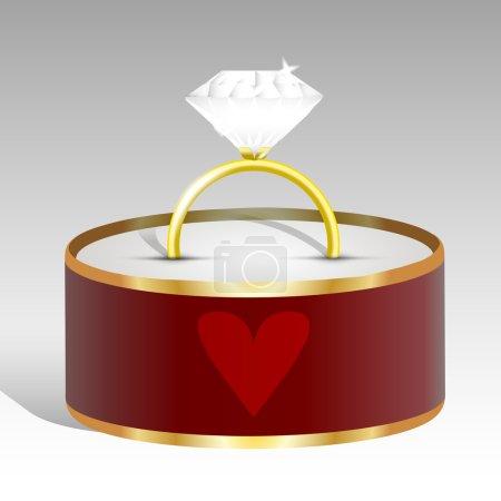 Illustration pour Illustration vectorielle d'une bague en diamant . - image libre de droit