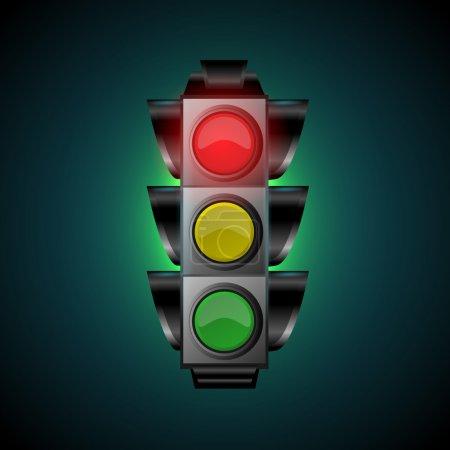 Illustration for Vector illustration of traffic light - Royalty Free Image