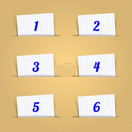 Vector Numeric Shaped Paper Clip
