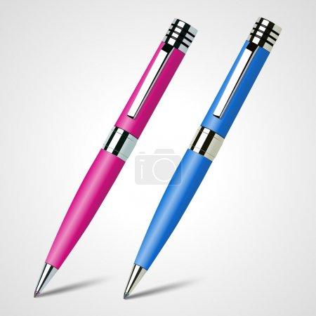 Illustration pour Illustration vectorielle de deux stylos. - image libre de droit