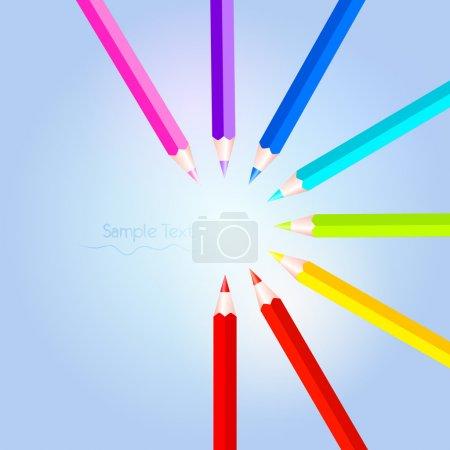 Vector colorful pencil set