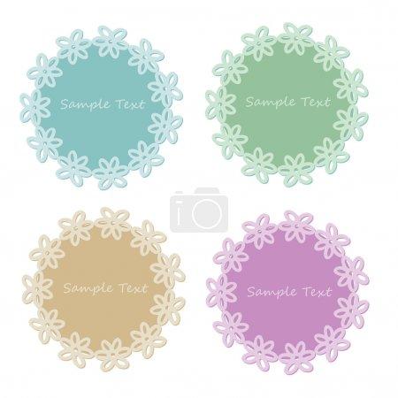 Illustration pour Ensemble vectoriel de cadres en dentelle - image libre de droit