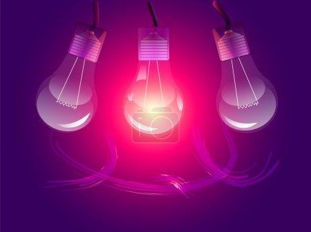 Vector stylish conceptual digital light bulbs design